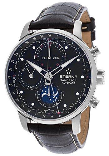 eterna 2949-41-46-1261 - Reloj para hombres, correa de cuero color negro