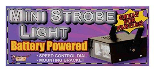 Forum Novelties Battery Powered LED Mini Strobe Light, Black