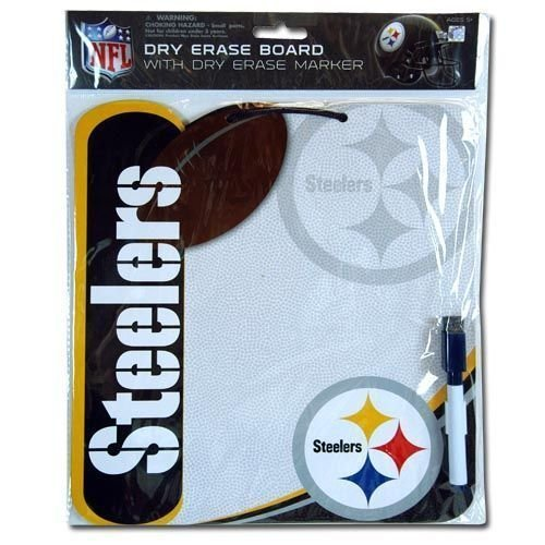 NFL Pittsburgh Steelers Shaped Dry Erase Board with Dry Erase Marker at SteelerMania