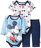 Disney Baby Baby-Boys Newborn Mickey Mouse 3 Piece Set, Blue, 0-3 Months