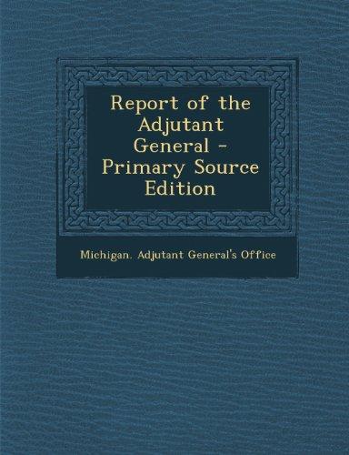 Report of the Adjutant General