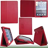 Apple iPad 2 Bold Standby case (Red) for Apple iPad 2 (Built-in Magnet for Smart Cover's Sleep & Awake Function)