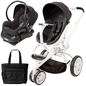 quinny moodd stroller travel system with bag and car seat black irony infant. Black Bedroom Furniture Sets. Home Design Ideas