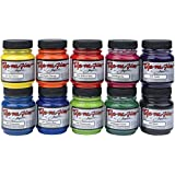 Jacquard Dye-Na-Flow Non-Toxic Specialty Paint Set, 2.25 oz Jar, Assorted Color, Set of 10