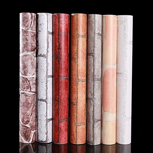 Yazi papel pintado adhesivo extra ble autoadhesivo de ladrillos moderno mural rollo papel - Papel pintado adhesivo ...