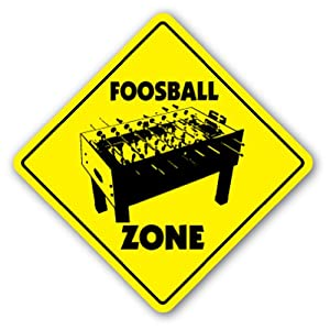 Amazon.com - FOOSBALL ZONE Sign game room table soccer gift