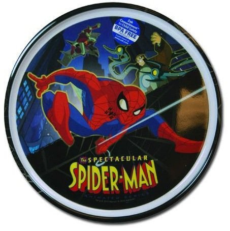 Spectactular Spiderman Plate - Boys Plastic Plate by Marvel