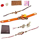 Combo Of Purse And Rakhi For Bhai And Bhabhi And Bhatija/Bhatiji.,Unique Rakhi Set For Brother With Rakhi Gift Roli Chawal Rakshabandhan Special,Rakhi For Brother,Rakhi For Brother With Gift Combo,Rakhi For Brother And Bhabhi Combo,Rakhi For Bhabhi