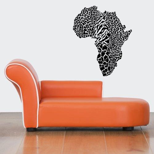 Wall Vinyl Sticker Decals Mural Design Art Wild Spots Leopard Cheetah Skin Africa Map Country 801 front-956640