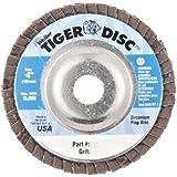 Weiler Tiger Abrasive Flap Disc, Type 29, Round Hole, Aluminum Backing, Zirconia Alumina