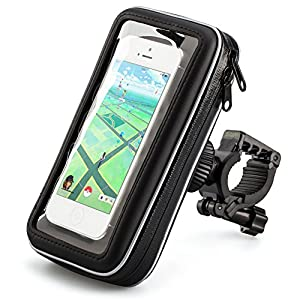 iKross® Universel Support Fixation Guidon Vélo, Bicyclette, Cyclisme avec Étui Imperméable pour Apple, Android, Smartphone, iPhone 6S / 6/ 6 Plus, Samsung Galaxy S6, S6 Edge, note 5, Note 4, HTC one, LG, Motorola, Wiko