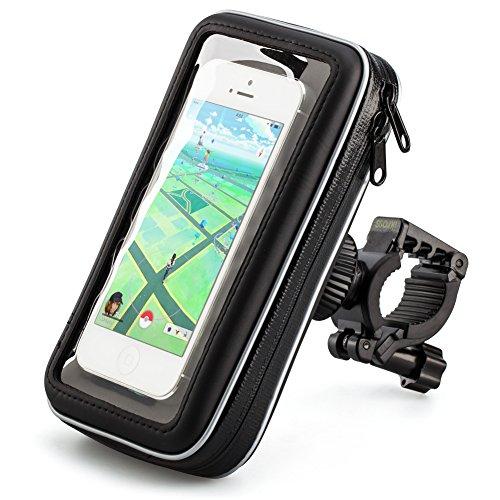 Supporto Bici, iKross Universale Supporto Cellulare Impermeabile Custodia, Borsa, Borsetta per Bicicletta / Bici Ciclismo per Smartphone - Nero