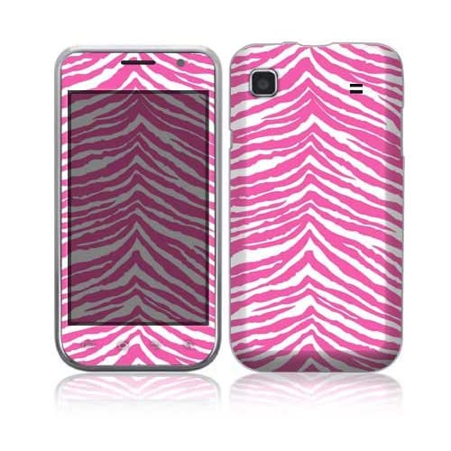 Pink Zebra Decorative Skin Cover Decal Sticker for Samsung Galaxy S 4G Cell Phone