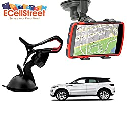 ECellStreet TM Mobile phone soft tube mount holder with suction cup - Multi-angle 360° Degree Rotating Clip Windshield Dashboard Smartphone Car Mount Holder Land Rover Discovery Sport