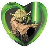 Disney's Star Wars Jedi Yoda Milk Chocolate Heart Candy, 15 Count