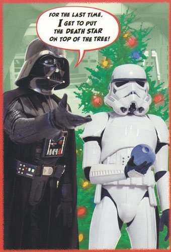 Greeting Card Christmas Star Wars