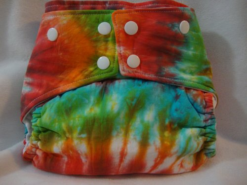ButterBears One Size Multi Color Tie Dye Cloth Diaper