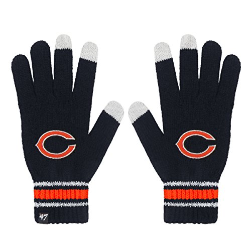 NFL Chicago Bears Women's '47 Ellie Gloves, Navy, One Size (Chicago Bears Womens Hoodie compare prices)