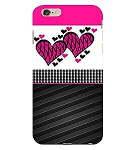 Creative Heart Design 3D Hard Polycarbonate Designer Back Case Cover for Apple iPhone 6S