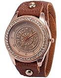 ローズゴールド クリスタル ウィメンズ 星座 パターン ブレスレット クォーツ腕時計WAA649