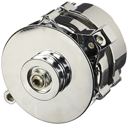 Tuff Stuff 7078NA Chrome 70 Amp 1-Groove Pulley Alternator for Ford (Chrome Alternators compare prices)