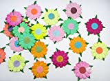 Card making mulberry Paper flowers for Scrapbooking wedding multi color 25 pcs NoMul 002