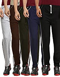 Gumber Pack of 5 Multicoloured Solid Pyjamas (GE_VT_PJA_GRY_BLK_BLU_GRN_BRN_5PC)
