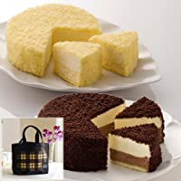ルタオ (LeTAO) ドゥーブルフロマージュとショコラドゥーブル Amazon限定お試しセット トートバッグ付 / 配送料込 / チーズケーキ