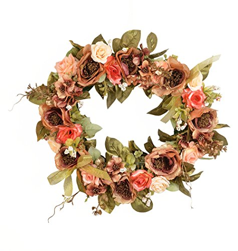 Flower Wreath Handmade Home Wall Decor Vintage type
