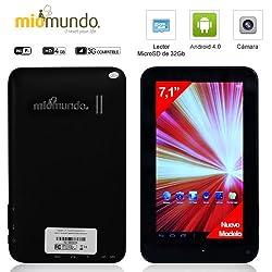 MioMundo - NUEVO MODELO - TABLET ANDROID 4.0 de 7 pulgadas de alta resolución 800x 480, capacitiva multitáctil de 7