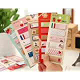 ONOR-Tech 3 x Lovely Post It Bookmark Writing Marker Memo Flags Index Notepad Tab Sticky Notes