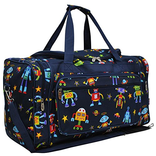 23-Travel-Weekender-Overnight-Carry-on-Duffle-Bag-2-Robot-Navy-Blue