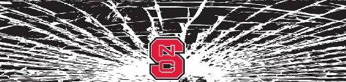 North Carolina State Wolfpack Shattered Auto Visor Decal