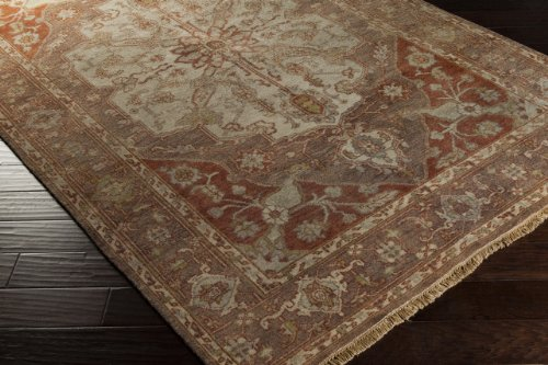 2' x 3' Rectangular Surya Accent Rug ZEU7810-23 Ginger Spice Color Hand Knotted in India
