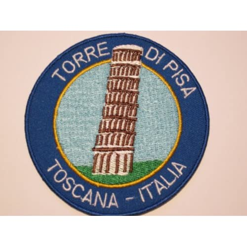 TOWER OF PISA ITALY PATCH - IRON / SEW ON EMBROIDERED LEANING TOWER