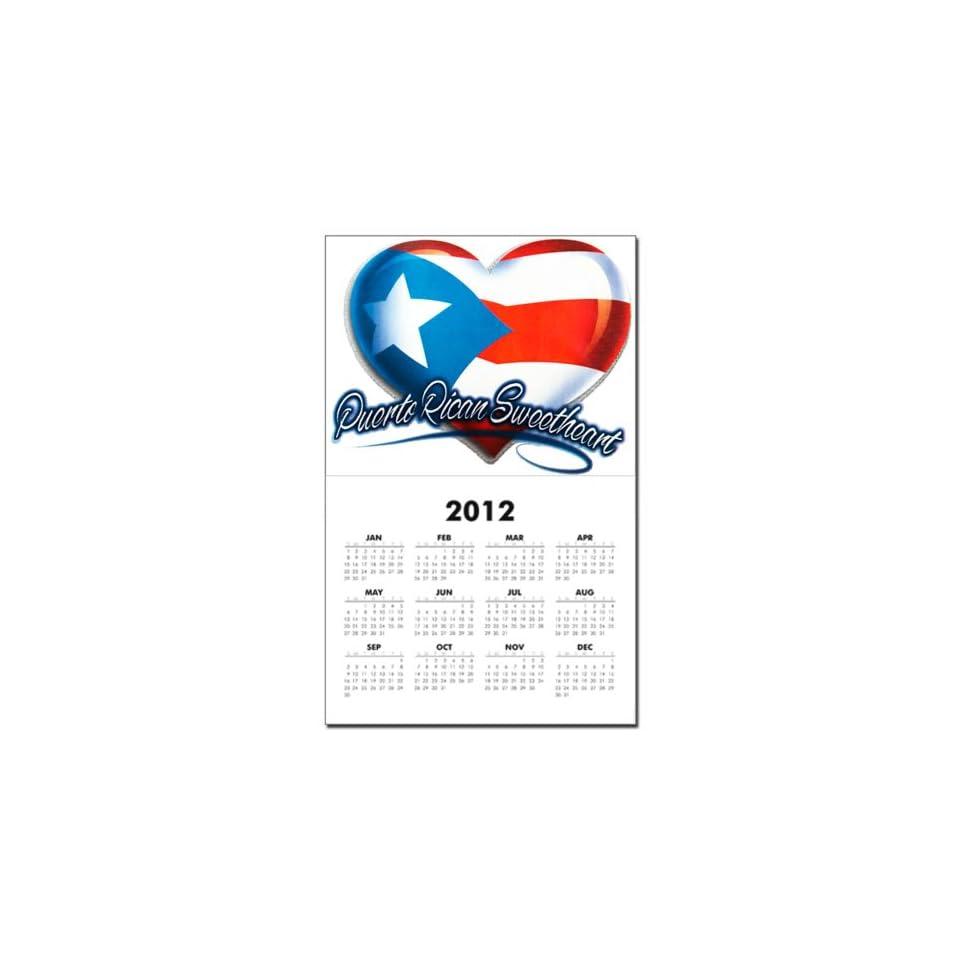 Calendar Print w Current Year Puerto Rican Sweetheart Puerto Rico Flag