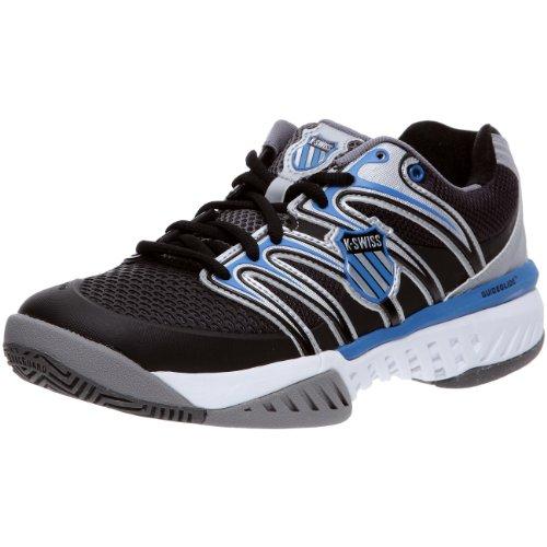 K-Swiss Men's Bigshot Tennis Shoe,Charcoal/Black/Brilliant Blue,10.5M