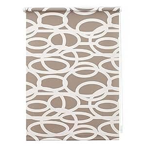 store enrouleur occultant sans per age bulles motif cercles gris blanc 45 x 180 cm largeur x. Black Bedroom Furniture Sets. Home Design Ideas