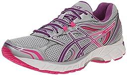ASICS Women\'s GEL Equation 8 Running Shoe, Silver/Grape/Hot Pink, 7.5 D US