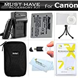Essential Accessories Bundle Kit For Canon PowerShot ELPH 330 HS, ELPH 100 HS , ELPH 300 HS ELPH 310 HS 12 MP Digital Camera Includes (900maH) Replacement Canon NB-4L Battery + Charger + Case + More