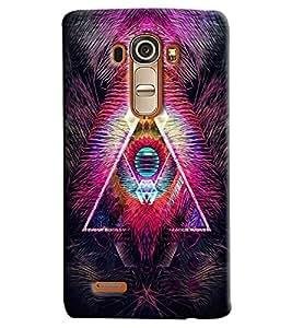 Blue Throat Fire Effect Printed Designer Back Cover/Case For LG G4