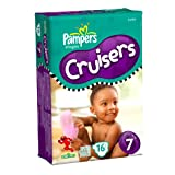Pampers Cruisers Diapers Size 7, 41+ lbs, Jumbo 16 ea