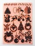 ヴィンテージクリスマスパック2 ~ クリアスタンプ 18x24cm) // Vintage Christmas Pack 2 ~ Large Sheet 18x24cm FLONZ