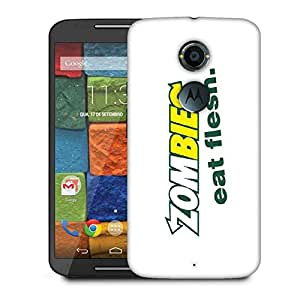Snoogg Zombies Eat Flesh Designer Protective Phone Back Case Cover For Moto X 2nd Generation