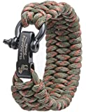 """The Friendly Swede Trilobite Extra Beefy Paracord Survival Bracelet with Stainless Steel Black Bow Shackle, Adjustable Size Fits 7""""-8"""" (18-20 cm) Wrists"""