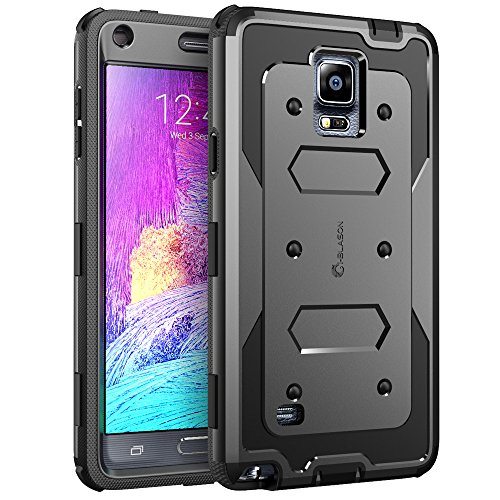 Galaxy Note 4 Case, i-Blason Armorbox Dual Layer Hybrid Full-body Protective Case For Samsung Galaxy Note 4 [SM-N910S / SM-N910C] with Front Cover and Built-in Screen Protector / Impact Resistant Bumpers (Black) (Note 4 Front Camera compare prices)