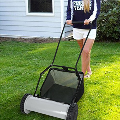 Wakrays Push Reel Lawn Mower with Grass Catcher U-Style Handle And Heat Treated Blades Garden Yard (Reel Type Mower compare prices)