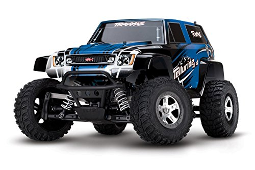 Traxxas Telluride: 4X4 Electric Extreme Terrain 4WD Monster Truck (1/10 Scale), Blue (Monster Truck Power Wheels compare prices)