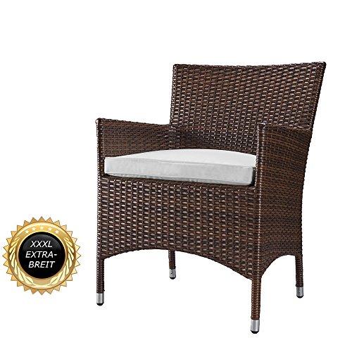 XXL-Rattan-Stuhl-bis-200-kg-belastbar-LUXUS-pur-Superbequeme-Edition-Serie-Extra-verstrkter-Alurahmen-aus-einem-Stck-kein-Bausatzsystem-Farbe-Java-Braun