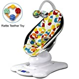 4moms MamaRoo 005001401 Rocker Bouncer Plush in Multi Color with Rattle Teether Toy